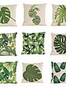 9 штук Лён Наволочка Наволочки,Однотонный Текстура тропический Модерн Повседневный Традиционный/классический Пляжный стиль