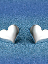 Stud Earrings Jewelry Silver Plated Alloy Heart Silver Jewelry Wedding Party Halloween Daily Casual 1 pair
