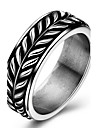 Men Casual Fashion Originality Stainless Steel Tide Ring Charm Ring For Women 316L Titanium Steel Party Punk Leaf Rings