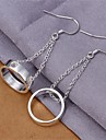 Non Stone Drop Earrings Jewelry Women Daily Casual Copper Silver Plated 1 pair Silver