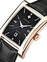 WWOOR 남성 드레스 시계 패션 시계 손목 시계 석영 달력 가죽 밴드 캐쥬얼 멋진 블랙 브라운