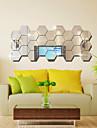 Miroir Forme Abstrait Stickers muraux Stickers muraux a strass Miroirs Muraux Autocollants Autocollants muraux decoratifs,Vinyle Materiel
