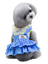 Dog Dress Dog Clothes Summer Polka Dots Cute Fashion Yellow Blue