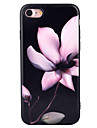 Pour Motif Coque Coque Arriere Coque Fleur Flexible PUT pour Apple iPhone 7 Plus iPhone 7 iPhone 6s Plus/6 Plus iPhone 6s/6