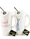 Новизна Drinkware, 500 мл воды керамический сок кружка кофе с соломой