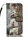Для Бумажник для карт Кошелек со стендом Флип С узором Кейс для Чехол Кейс для Кот Твердый Искусственная кожа для AppleiPhone 7 Plus