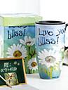 Vintage FLoral Drinkware, 500 ml Sunflower Painting Ceramic Juice Milk Coffee Mug