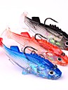 "3 pcs Soft Bait Jigs Fishing Lures Soft Bait Jigs Jig Head Black Assorted Colors g/Ounce,76 mm/3"" inch,Soft Plastic Lead SiliconSea"