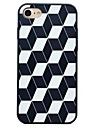 Para Antichoque IMD Aspero Capinha Capa Traseira Capinha Padrao Geometrico Rigida PC para AppleiPhone 7 Plus iPhone 7 iPhone 6s Plus