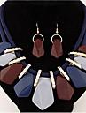 Набор украшений Ожерелье / серьги Euramerican Pоскошные ювелирные изделия европейский Резина Сплав Геометрической формыБежевый Серый