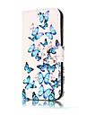 Pour Portefeuille Porte Carte Avec Support Clapet Motif Coque Coque Integrale Coque Fleur Dur Cuir PU pour SamsungA3 (2017) A5 (2017)