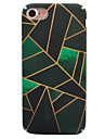 For Apple iPhone 7 7 Plus 6S 6 Plus Case Cover Green Rhombus Pattern PC Material Decal All-Inclusive Phone Case