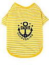 Dog Shirt / T-Shirt Dog Clothes Cute Casual/Daily Stripe Yellow Light Green