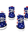 Dog Shoes & Boots Cute Fashion Sports Color Block Blue