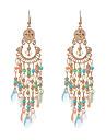Women\'s Drop Earrings Crystal Obsidian Tassel Euramerican Costume Jewelry Tassels Vintage Crystal Resin Alloy Jewelry Jewelry For Wedding