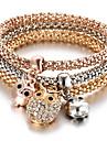 Femme Chaines & Bracelets Alliage Boheme Chouette Or Bijoux 1pc