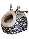 fournitures pour animaux en forme d\'oeuf amovible en peluche amour plaisir chien chat animal leopard doghouse