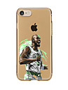 For Transparent Pattern Case Back Cover Case Cartoon Basketball  Soft TPU for IPhone 7 7 Plus iPhone 6s 6 Plus iPhone 6s 6 iPhone 5s 5 5E 5C 4 4s
