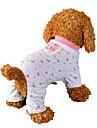 Собаки Комбинезоны Одежда для собак Лето Цветы Милые На каждый день Розовый