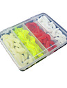1 штук Рыболовная приманка Мягкие приманки Случайный цвет г/Унция мм дюймовый Обычная рыбалка