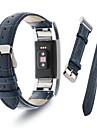 Fitbit Charge 2 Band MoKo Premium Soft Genuine Leather Crocodile Pattern Strap