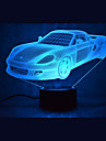 jul bil beroerings dimming 3D LED nattlys 7colorful dekorasjon atmosfaere lampe nyhet belysning jule lys