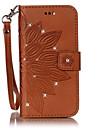 Для Бумажник для карт Стразы со стендом Флип Кейс для Чехол Кейс для Цветы Твердый Искусственная кожа для SamsungS7 edge S7 S6 edge S6 S5