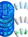 1pcs venda quente de moda bonito dos desenhos animados design de unhas de aco inoxidavel carimbar placa bonita stencils manicure