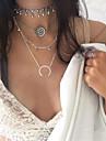 Жен. Ожерелья-бархатки Заявление ожерелья Бижутерия Круглой формы MOON СплавУникальный дизайн В виде подвески Euramerican Мода Богемия