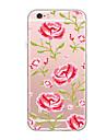 케이스 커버 울트라 얇은 패턴 뒷면 커버 케이스 꽃 소프트 tpu 아이폰 7 플러스 7 6s 플러스 6 플러스 6s SE 5s 5