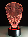 Smiling Face Jack Colorful 3D Led Night Lights Acrylic Lamp Touch Switch Gradient Visual Stereo Lamp Children Gift For Party