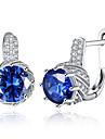 Stud Earrings Clip Earrings Crystal AAA Cubic ZirconiaBasic Circular Unique Design Dangling Style Rhinestone Geometric Friendship Turkish