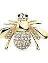 패션 귀여운 반짝 모조 다이아몬드 꿀벌 브로치