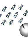 10pcs t10 5 * 5050 smd 칠판 디코딩 led 자동차 전구 화이트 빛 dc12v