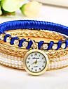 Mulheres Relogio de Moda Chines Quartzo Colorido Rosa Folheado a Ouro Banda Bracelete Preta Branco Vermelho Roxa Azul Marinho