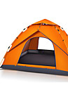 3-4 persons Tent Beach Tent Single Camping Tent Automatic Tent Waterproof Portable 2000-3000 mm for Hiking Camping CM One Room Fiberglass
