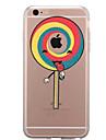 Para Transparente Estampada Capinha Capa Traseira Capinha Brincadeira Com Logo da Apple Comida Macia TPU para AppleiPhone 7 Plus iPhone 7