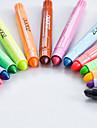 παστέλ Στυλό Κραγιόνια Στυλό Βαρέλι Κόκκινο Μαύρο Μπλε Κίτρινο Βυσσινί Πορτοκαλί Πράσινο μελάνι Χρώματα For Σχολικές προμήθειεςΠρομήθειες