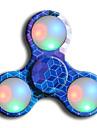 Toupies Fidget Spinner a main Jouets Ring Spinner LED Spinner ABS EDCSoulagement de stress et l\'anxiete Jouets de bureau Pour le temps de