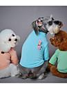 강아지 스웨터 강아지 의류 캐쥬얼/데일리 패션 만화 그린 블루 핑크
