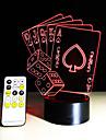 Покер игральные карты 3d лампа романтический 7 цвет меняется сенсорный ночной свет домашний кафе бар декоративные новогодние подарки
