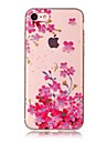 For Apple iPhone 7 7 Plus 6S 6 Plus SE 5S 5 5C Case Cover Plum Blossom Pattern HD Painted TPU Material IMD Process Phone Case