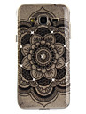 For Samsung Galaxy J2 J3 J5 (2016) Prime Case Cover Datura Flower Pattern HD Painted Drill TPU Material IMD Process High Penetration Phone Case