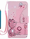 For Samsung Galaxy A3 A5 2017 Card Holder Wallet with Stand Flip Pattern Case Full Body Case Cat Hard PU Leather A3 A5 2016
