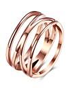 Ring AAA Cubic ZirconiaBasic Unique Design Rhinestone Geometric Friendship Turkish Cute Style Imitation Pearl Euramerican Crossover