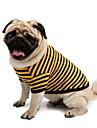 Psy T-shirt Niebieski Ubrania dla psów Lato פסים
