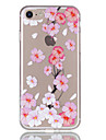 For Apple iPhone 7 7 Plus 6S 6 Plus Case Cover Peach Blossom Pattern Relief Varnish TPU Material Does Not Fade Phone Case