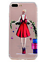 For iPhone 7 Plus 7 Phone Case Red Skirt Sexy Girl Pattern Soft TPU Material Phone Case 6S Plus 6S 6 SE 5S 5