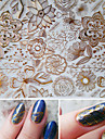 1 Sheet Embossed 3D Nail Stickers Rose Flower 3D Nail Art Stickers Decals #BP054