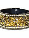 Femme Bracelets en cuir Bijoux Mode Style Punk Cuir Alliage Forme Ronde Bijoux Pour Occasion speciale Sports 1pc